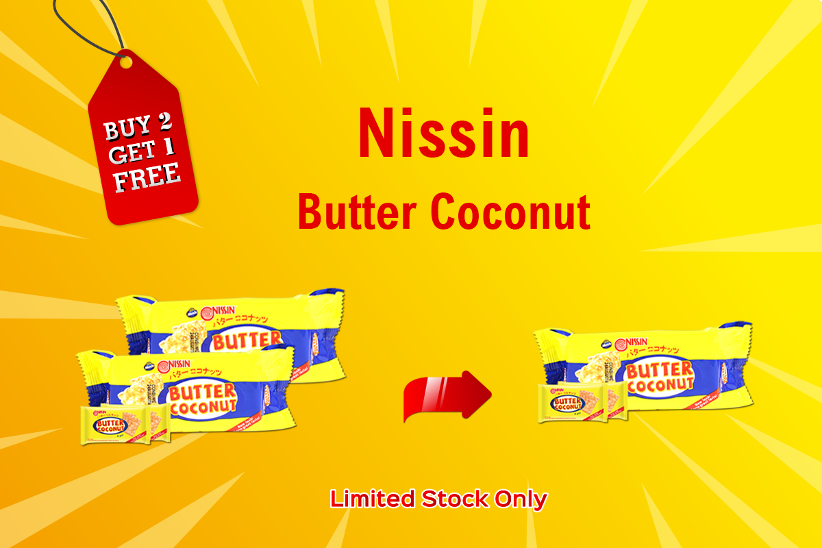 Buy 2 Butter Coconut Get 1 Butter Coconut