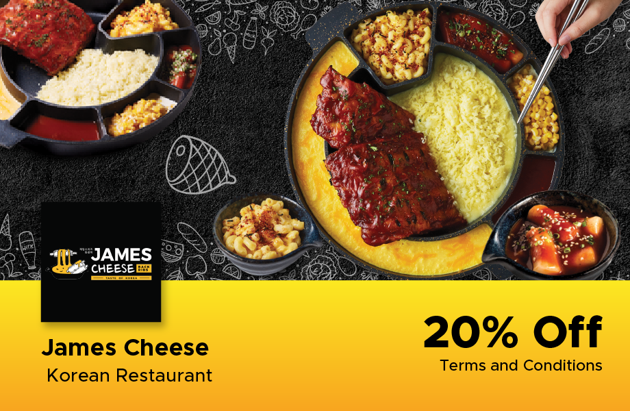 20% Off at James Cheese Korean Restaurant