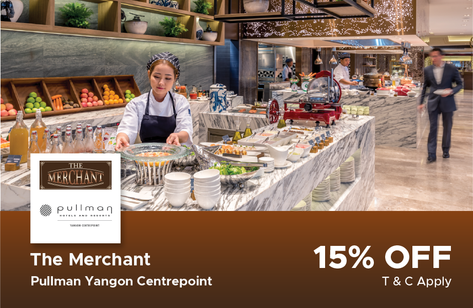 15% Discount Buffet at Pull Man Centrepoint Hotel, The Merchant Restaurant