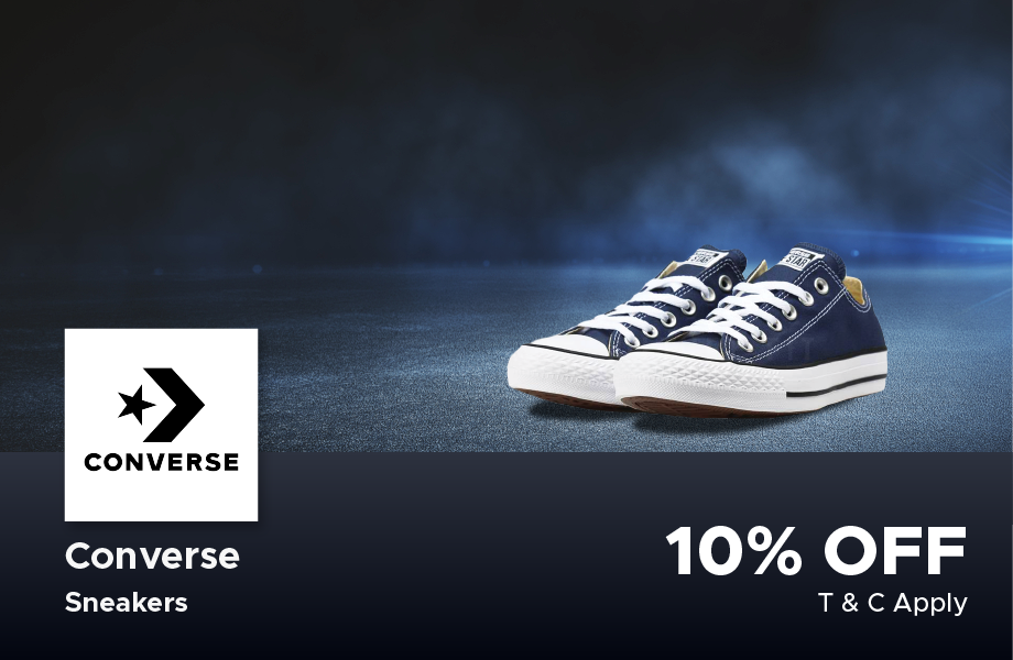 10% Off Converse brand shoes at Dagon Center 2