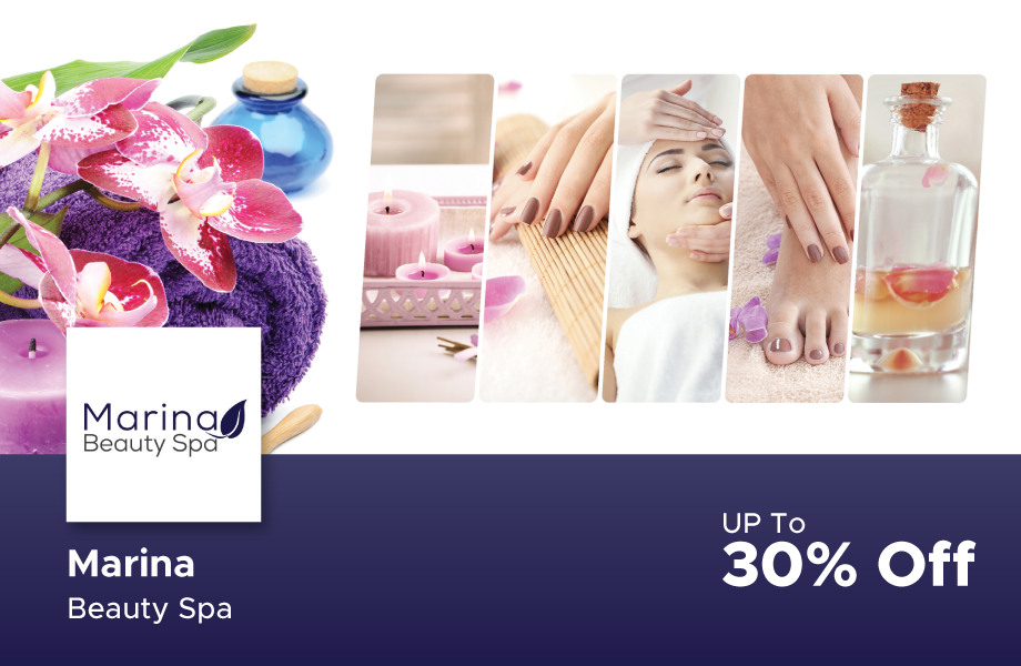 30% Off at Marina Beauty Spa, Marina Residence