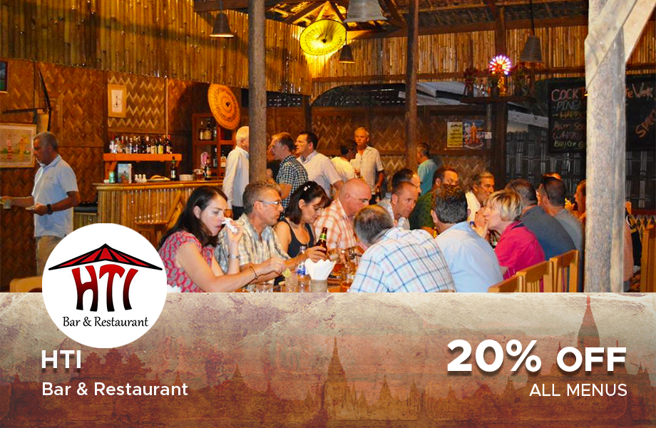 20% Off on total bill at HTI Restaurant & Bar at Bagan