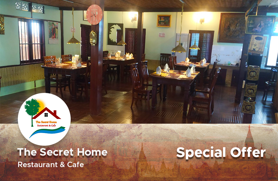 3500Ks worth fried Golden Triangle present at The Secret Home restaurant, Bagan