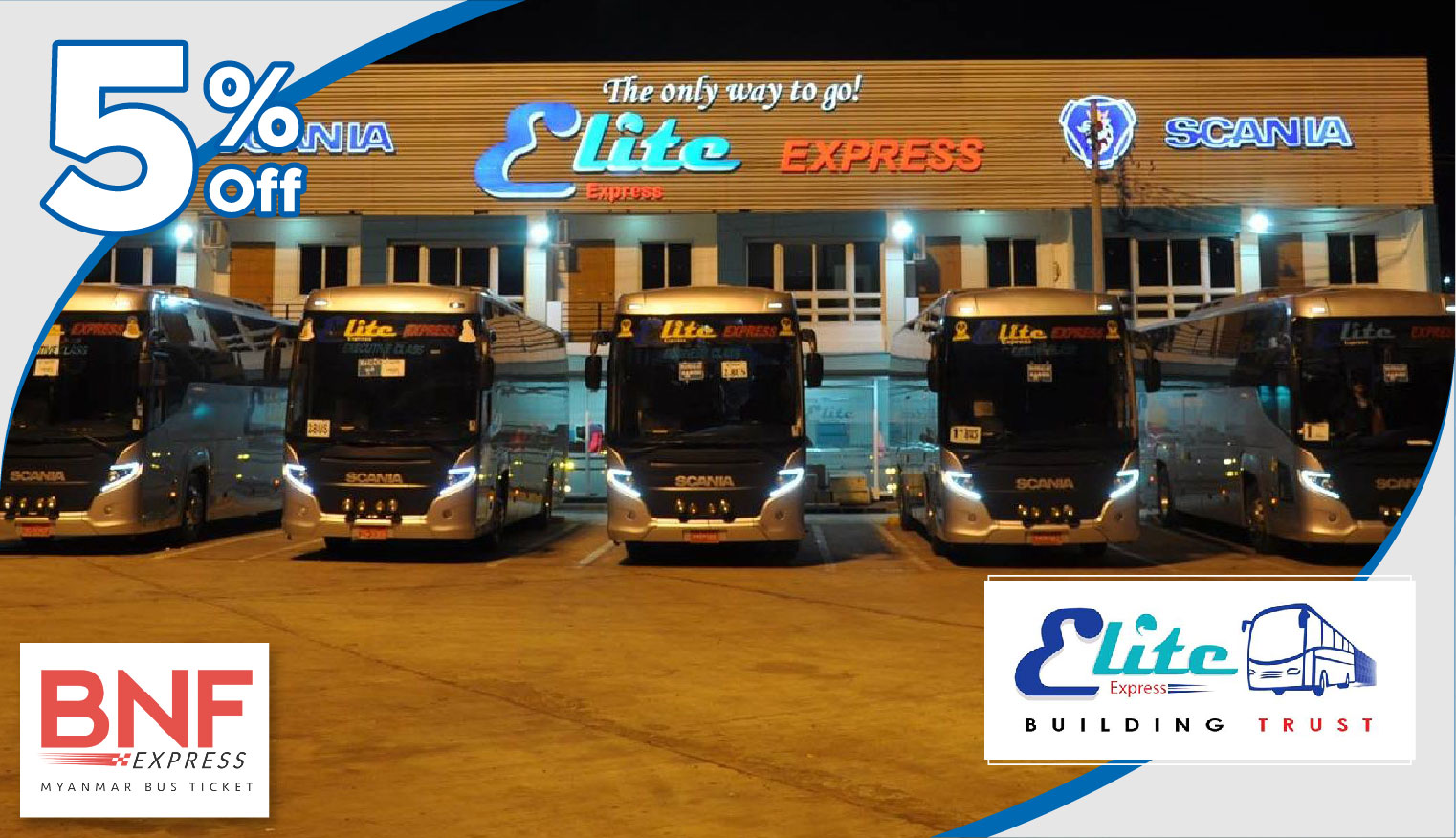 5% Discount on your Express Bus Ticket