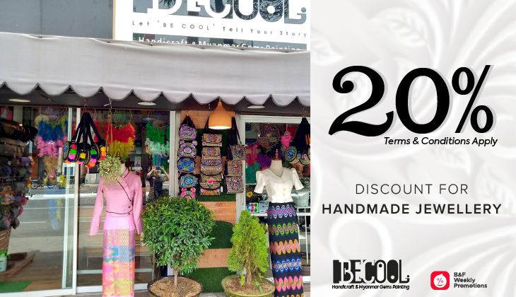 Up to 20% Discount on Handicraft & Myanmar Gems Painting