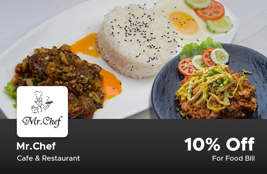 10% Off On Food Bill