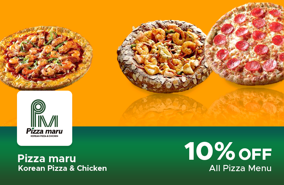 10% Discount All Pizza Menu Bill