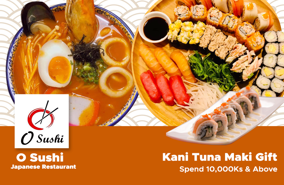 Gift 3700 Ks Kani Tuna Maki spend 10,000 Ks & above