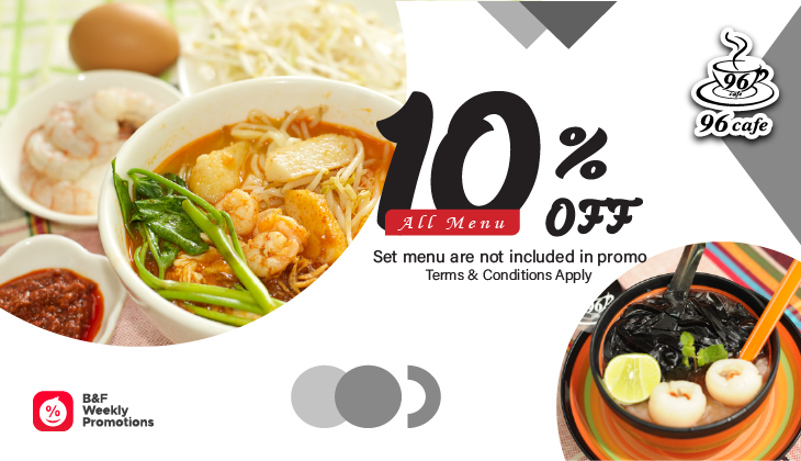 10% Off (Without Set Menu)