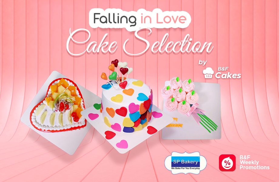 B&F Falling In Love Cake Selection